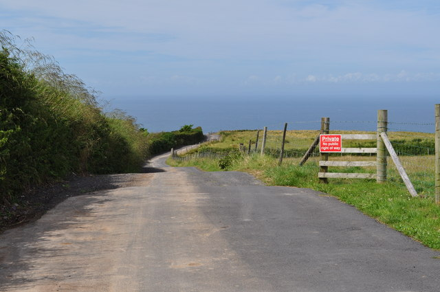 A private road leading to Yarde Farm