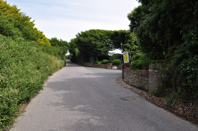 The entrance to Twitchen Holiday Parc on Mortehoe Station Road