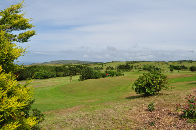 Looking across the green on the 8th hole of the golf course at Easewell Farm Holiday Park