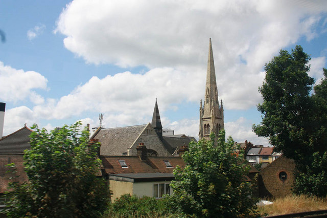 Church spire, Courthill Road, London SE13