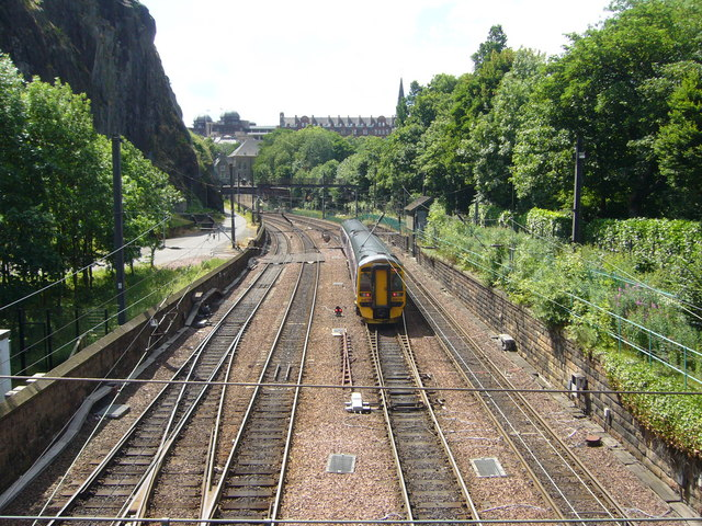 Train in Princes Street Gardens