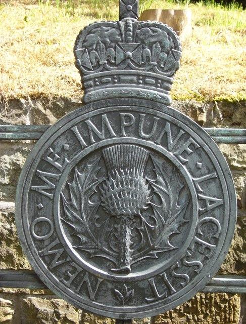 Royal Scots Memorial detail