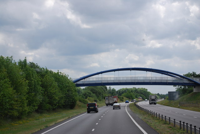 Foot and Cyclebridge over the A11, Attleborough bypass