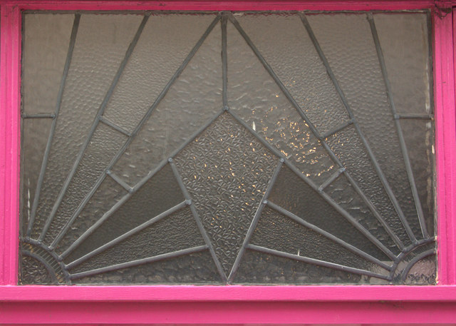 Art Deco window pane, Leigh on Sea, Essex