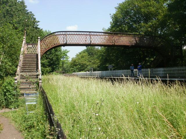 Footbridge, St Mary's Halt, Lydney