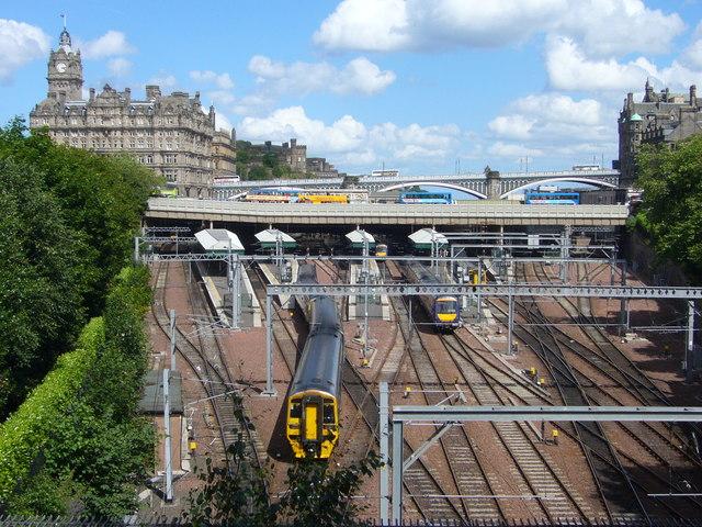 Waverley Station from Princes Street Gardens