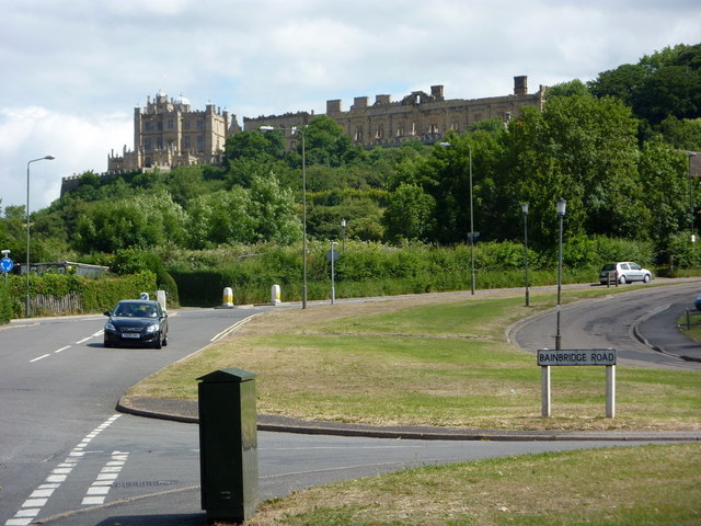 Looking up Carr Vale Road towards Bolsover Castle