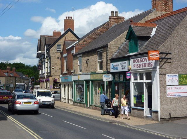 Town End shops in Bolsover