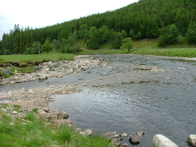 Confluence of Glenmazeran Burn and the River Findhorn