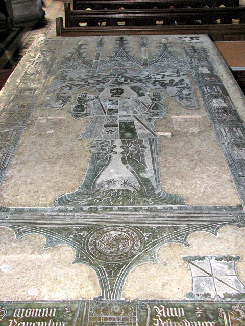 St Mary's church in Old Hunstanton - altar tomb