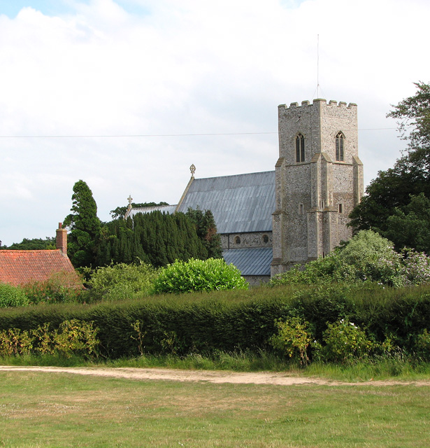 St Mary's church in Old Hunstanton - view from the SW