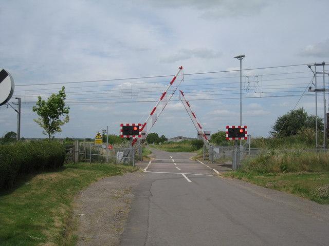 Oster Fen Lane crossing