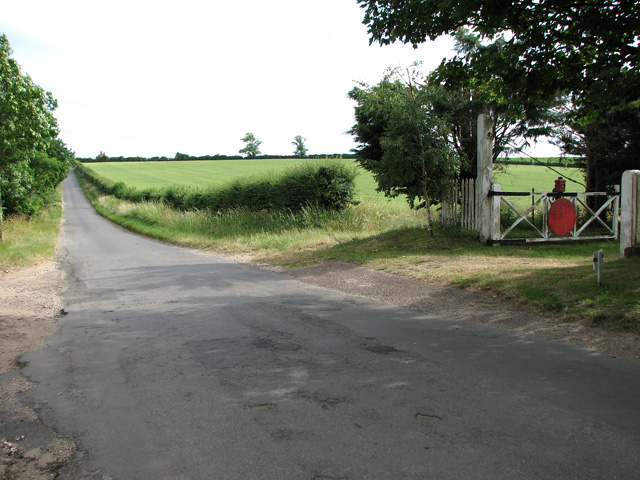 Former level crossing on the West Norfolk Railway