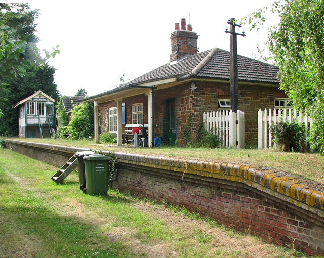 Sedgeford station - station building and signal box