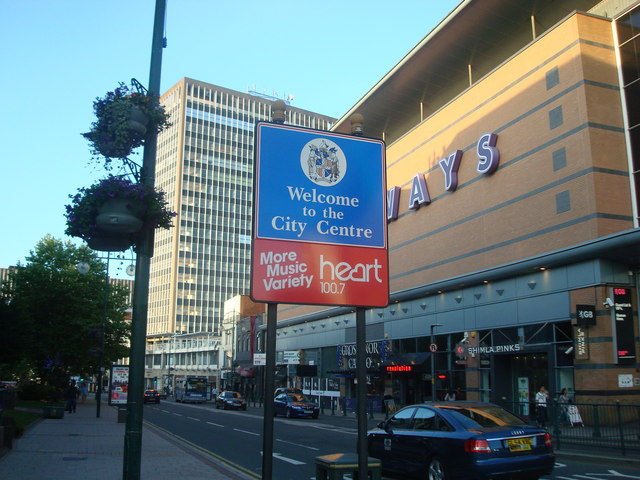 Welcome to the City Centre sign, Birmingham