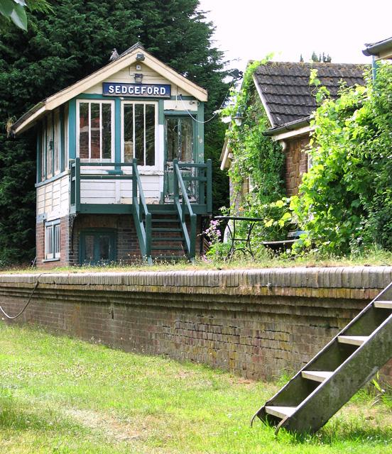 Sedgeford station - the signal box