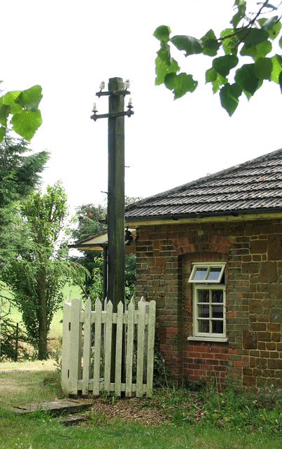 Sedgeford station - the old telegraph pole