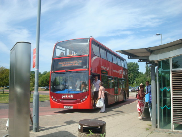 Park and ride bus to Cambridge