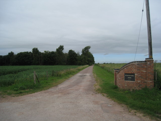 Entrance to Stubton Hill Farm