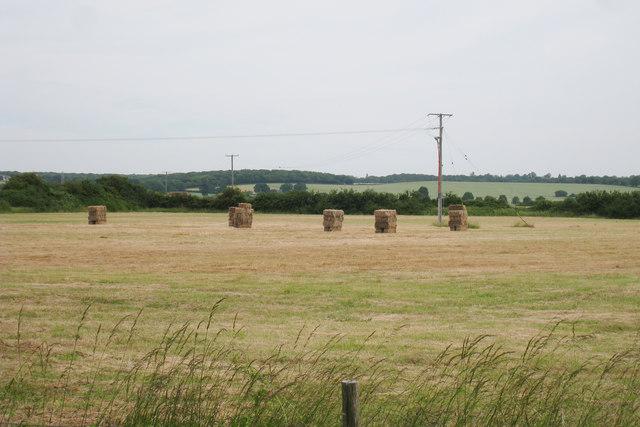Baled Field near Rock Cottage