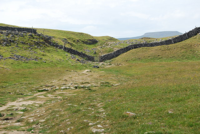 Heading towards a gate in the stone dyke