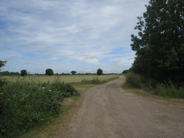 Farm track near Stubton