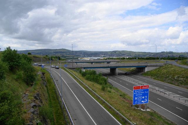 Junction 5 of the M65 Motorway