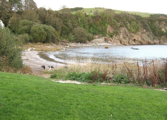 High tide at Portling Bay