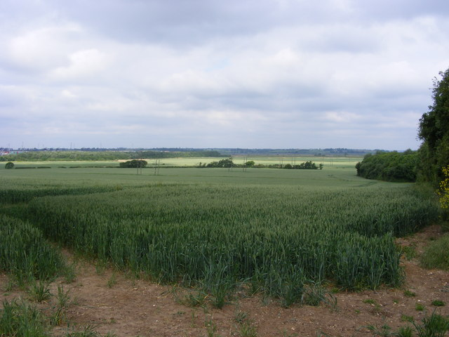 The view over the fields