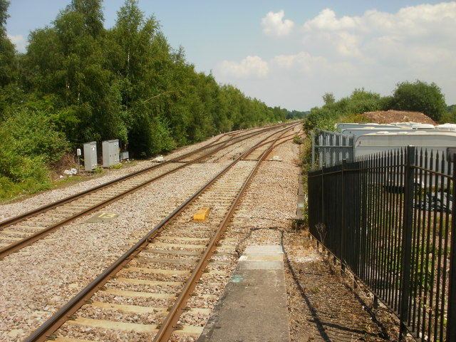 Two tracks become four, east of Lydney railway station