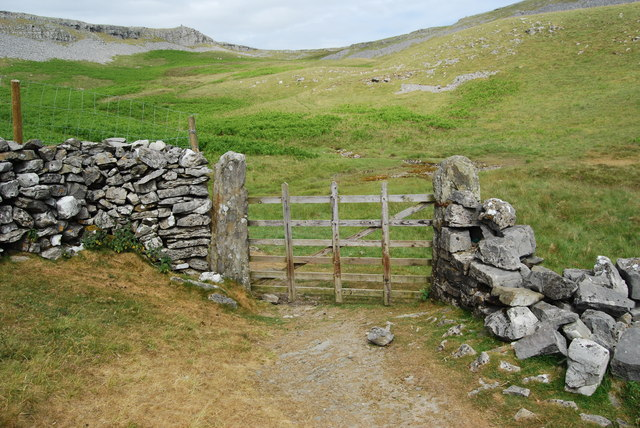 Gate at the end of the drove road
