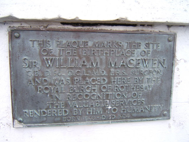 Plaque for Sir William Macewen's Birthplace