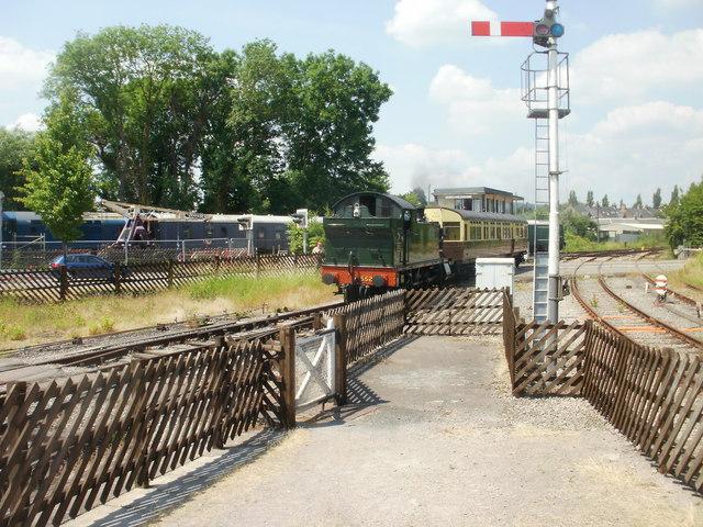 Arrival at Lydney Junction station