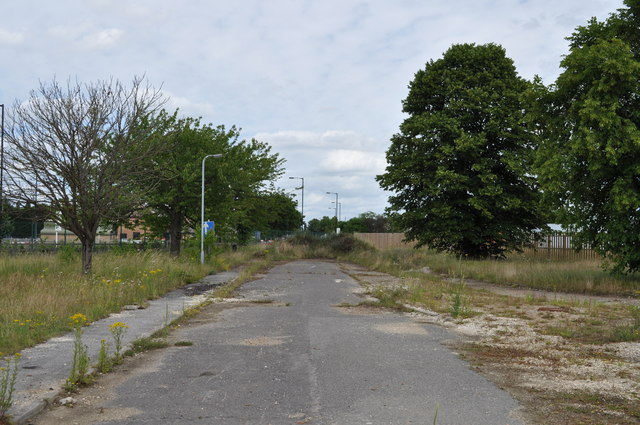 Road to nowhere on former RAF Finningley
