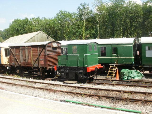 Tiny locomotive, Norchard railway station