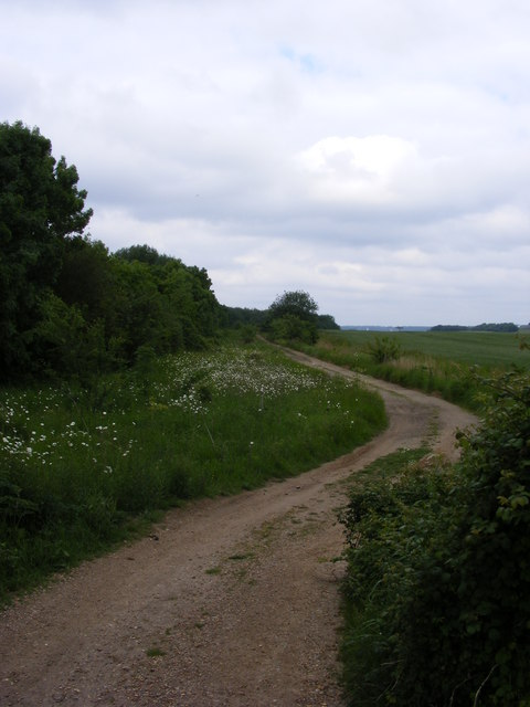 Bridleway towards Trimley Marshes Nature Reserve