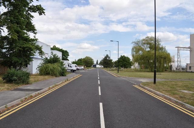 Road on former RAF Finningley