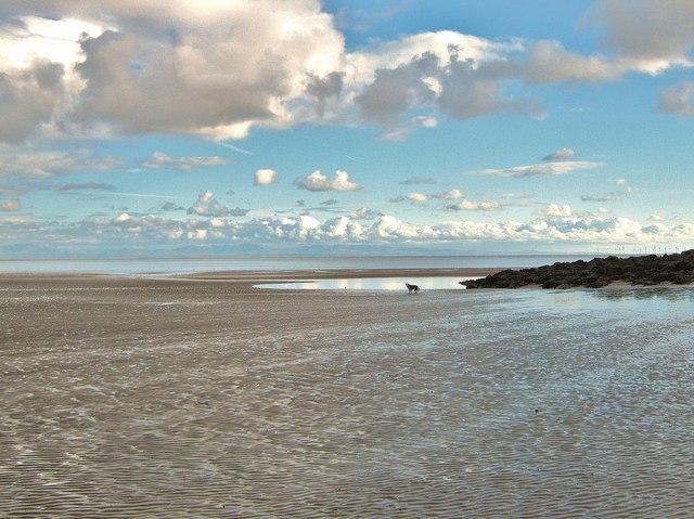 Receding tide, Portling Bay