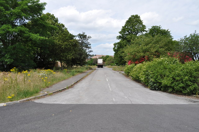 Road on former RAF Finningley