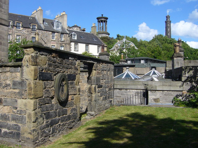 View of Calton Hill from the Old Calton Burying Ground