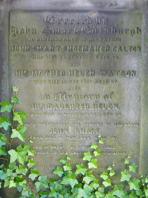 Gravestone inscription, Old Calton Burying Ground