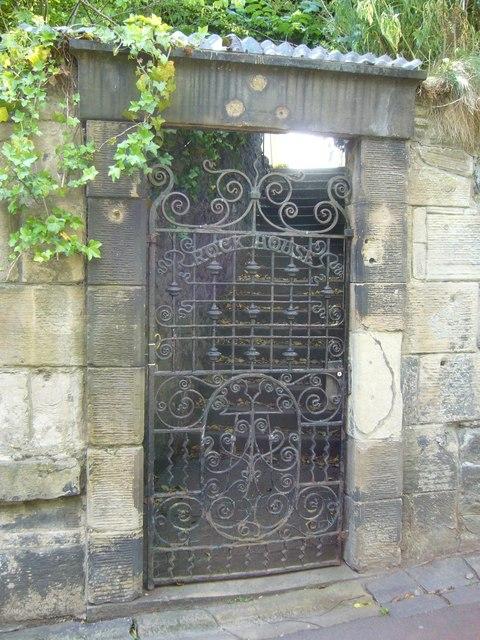 Rock House garden gate