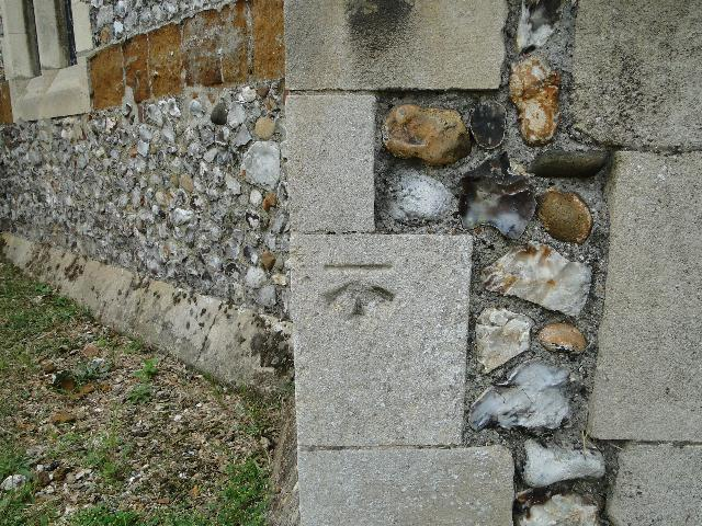 Bench Mark at Hunstanton St Edmund's Church