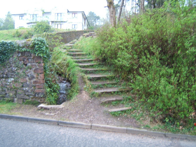 Steps to Housing behind the Glenburn Hotel