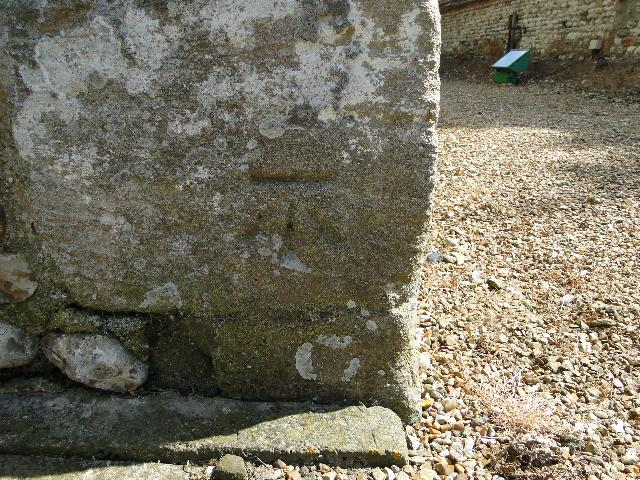 Bench Mark at Old Hunstanton church