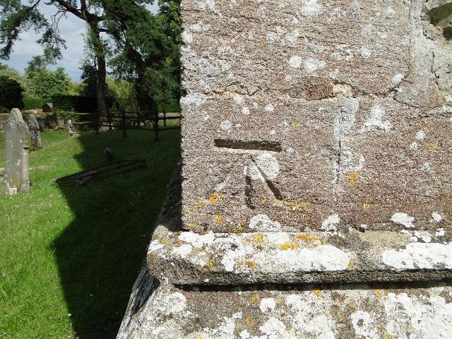 Bench Mark at Ingoldisthorpe church