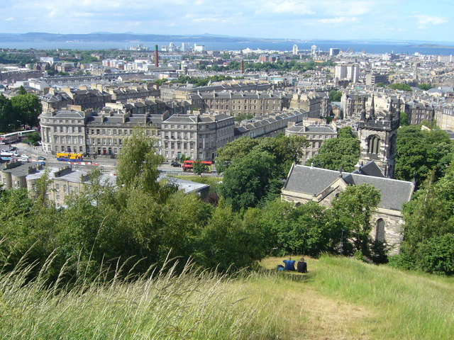 View towards Leith Walk from the Calton Hill