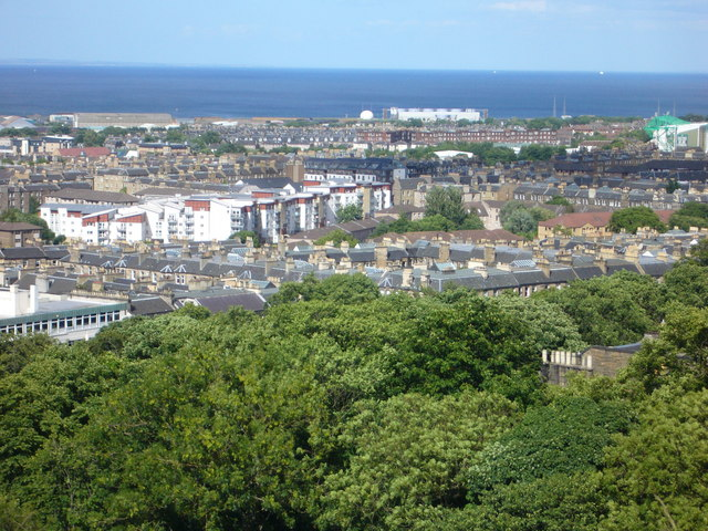 View towards Easter Road from the Calton Hill