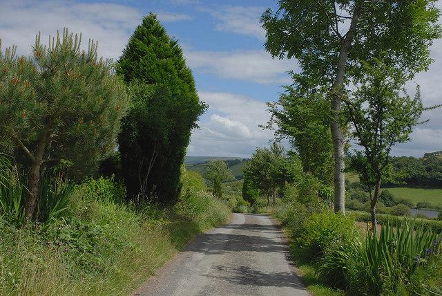 Minor road west of Van