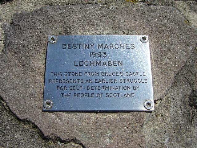 Scottish Parliament cairn plaque